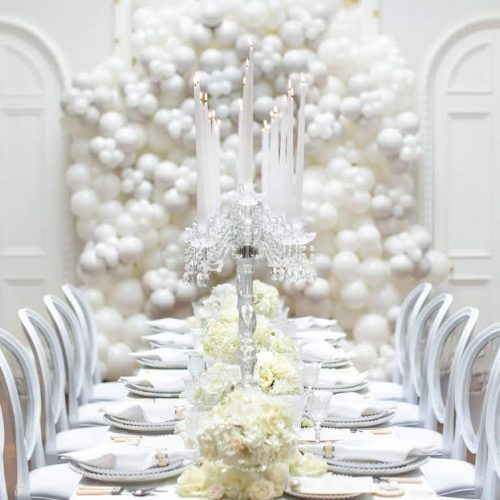 Pearl balloons Wedding white