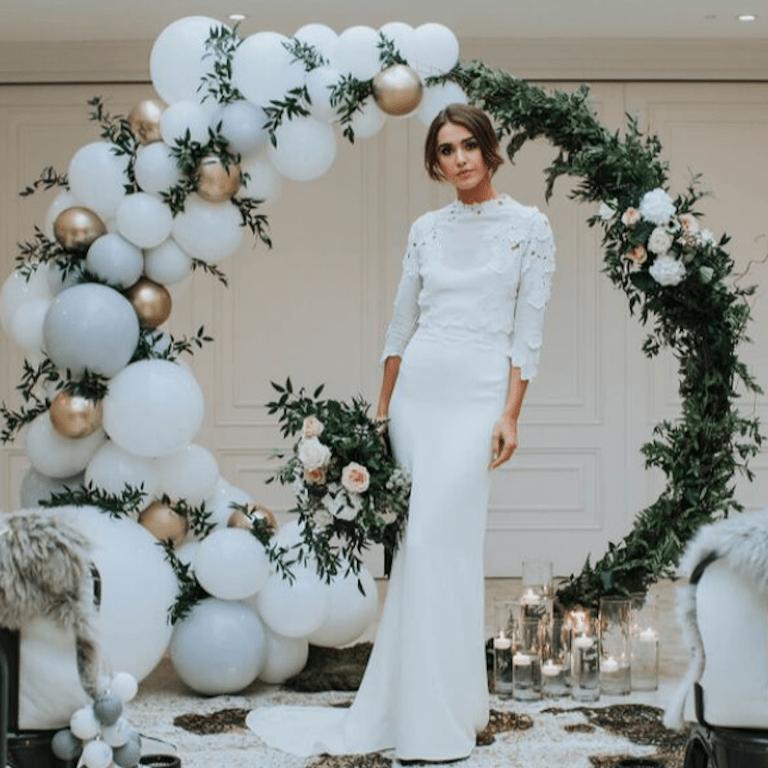 Winter Wedding Balloon Arch